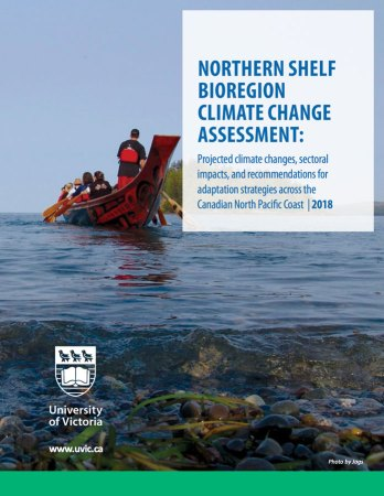 Northern Shelf Bioregion Climate Change Assessment, report cover page.