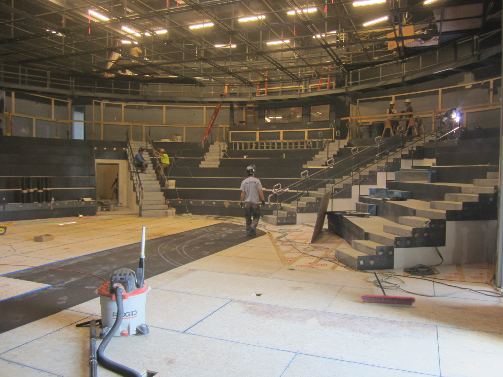 Construction Progress 7-7-15. The Byrne Theater takes shape.
