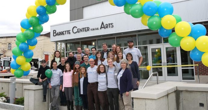 Northern Stage's Staff welcomes you to the Barrette Center for the Arts. October 10, 2015. Photo by Rob Strong.