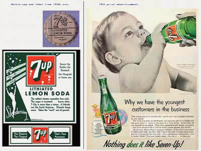 Ad from (Lithiated) Seven-Up