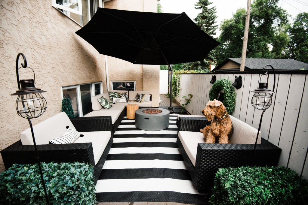 Home || Our Patio Transformation with @TheBrick || Top 3 ... on Black And White Backyard Decor  id=72358