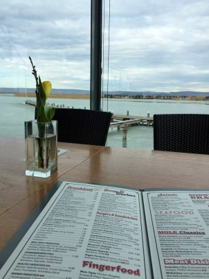 Menu with a view