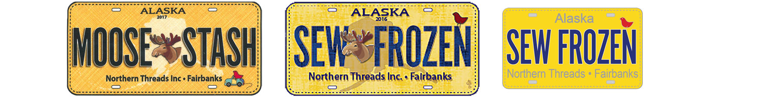 Row by Row License Plates