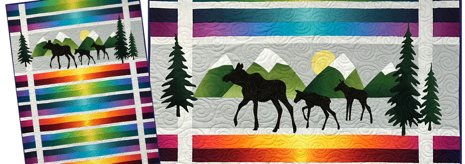 Moose Trio Applique Quilt