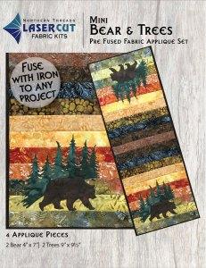 Mini Bear & Trees Applique Set
