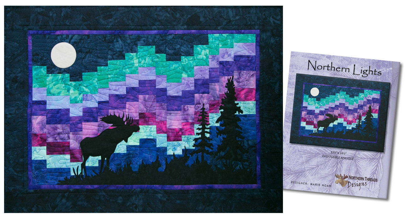 Easy Applique Art Quilts by Marie Noah | Northern Threads : northern lights quilt - Adamdwight.com