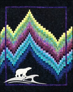Bargello Quilt with Polar Bear