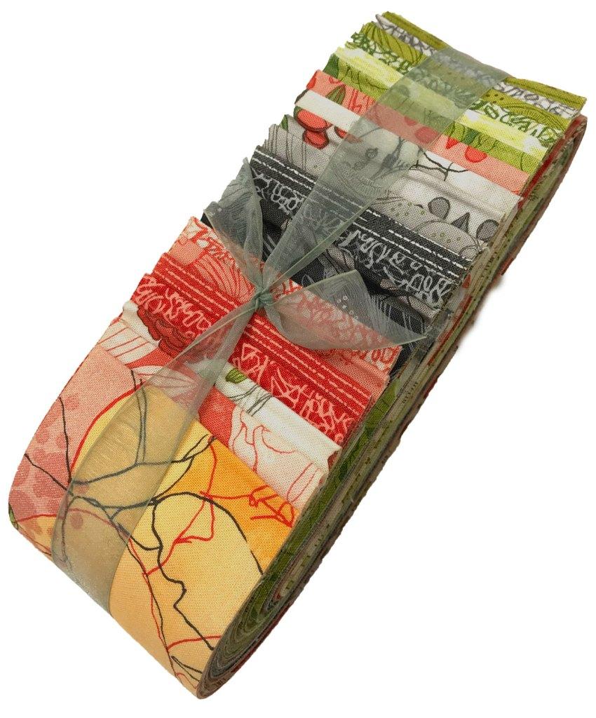 Blushing Peonies Fabric Strip Pack