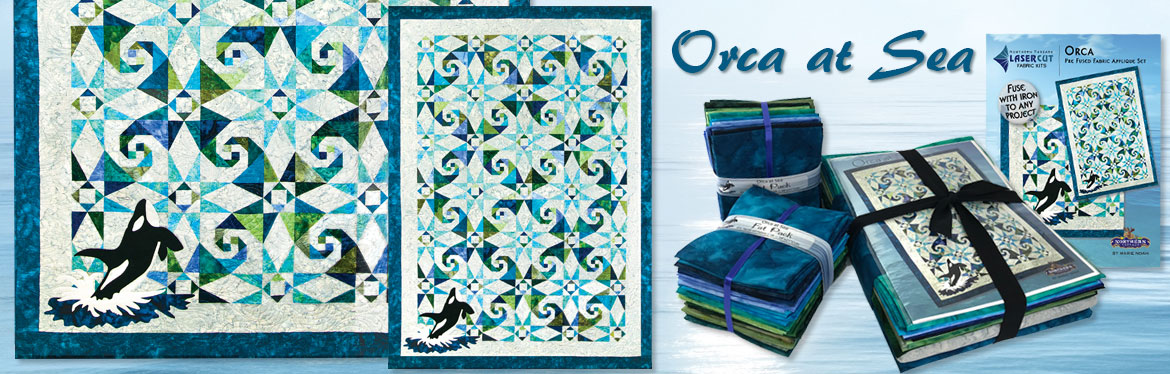 Orca at Sea Quilt Pattern by Marie Noah