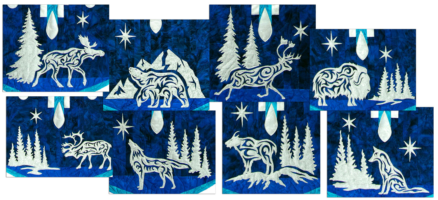 Arctic Holiday Laser Cut Appliques by Marie Noah