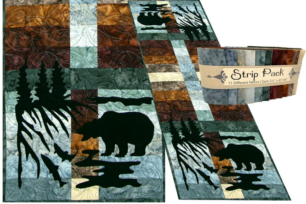 Wildwood Grizzly Bear Laser Cut Applique Set by Marie Noah