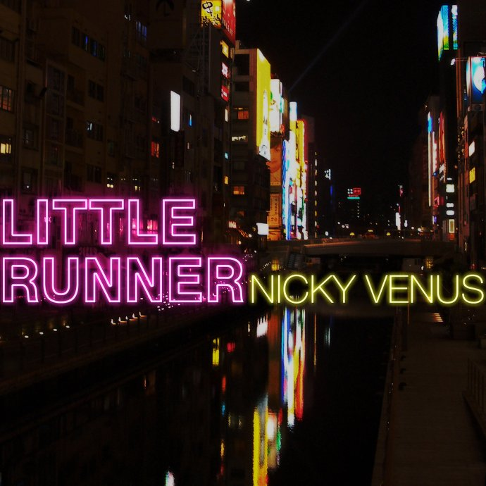 Nicky Venus streams his debut EP 'Little Runner'. The 6 song offering blends synthpop, electronica