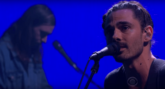 """Watch Local Natives perform their single """"Past Lives"""" on James Corden, last night. The track is off the band's LP """"Sunlit Youth"""""""