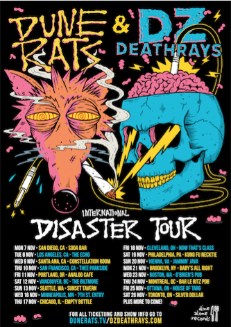 Dune Rats and DZ Deathrays announce North American co-headlining tour
