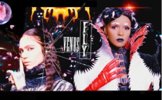 """Grimes releases new video for """"Venus Fly"""", featuring Janelle Monáe."""