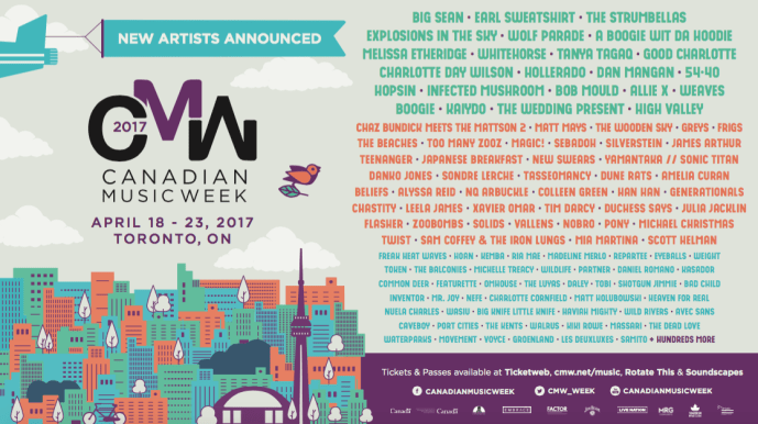 Canadian Music Week announces more artists