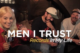 Men I Trust guested on 'Records In My Life.' The trio appeared, moments before hoping on stage in Vancouver BC, while on tour with Wild Nothing