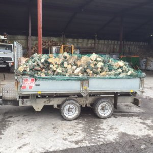 Load of logs for firewood - 4 cubic metres