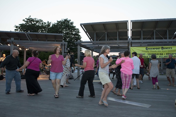 Dances in the Park every Monday night at Mitchell Park in Greenport.