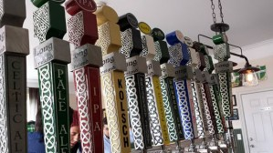 Taps lined up at the Long Ireland tasting room on Pulaski Street. (Courtesy photo)