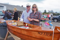 Rick and Sally Nemschick of Aquebogue provided a bushel of clams and 100 oysters. They used a handmade boat to serve the raw bar.