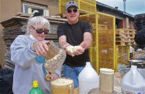 Donna Kijowski of East Quogue and Cliff Schriefer of Southold have been involved with the horseradish party since its inception.