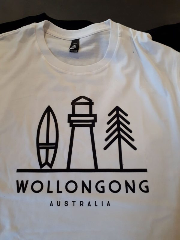 Wollongong Logo Tee White