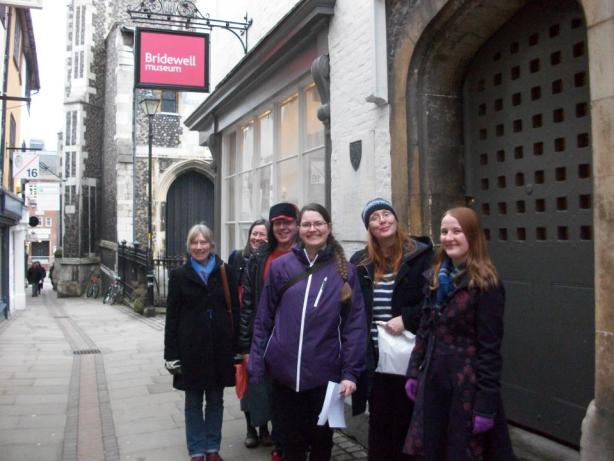Museum staff outside The Bridewell Museum in Norwich