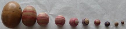 Wooden Russian Eggs