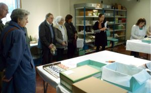 tour group in the processing room