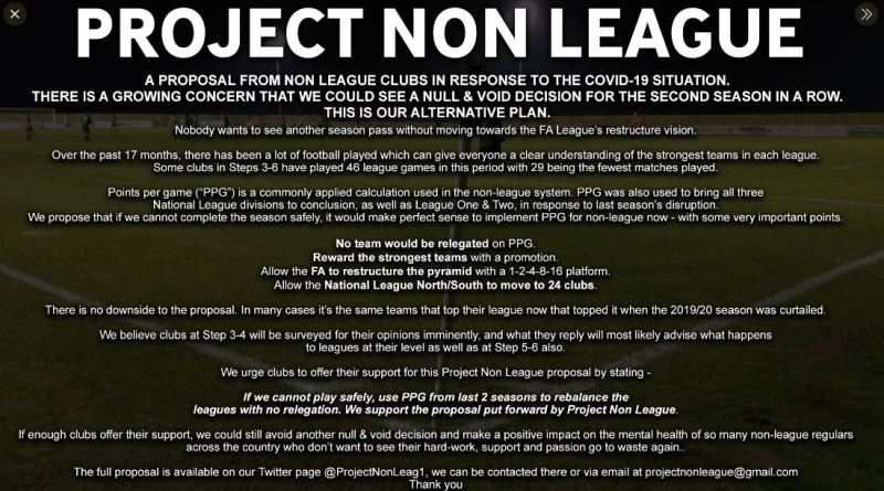 Project non league null and void
