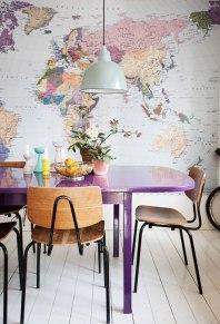 Map Wallpaper - http://www.designsponge.com/2013/03/sneak-peek-jenny-brandt-dos-family-jens-gronberg.html