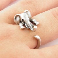 Ring - http://www.artfire.com/ext/shop/product_view/Wrapped/5756829/silver_elephant_wrap_ring/design/jewelry/rings/adjustable