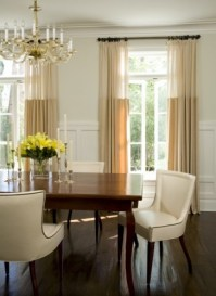 Matching colours - http://www.houzz.com/photos/119456/William-Hefner-Architecture-Interiors---Landscape-traditional-dining-room-los-angeles