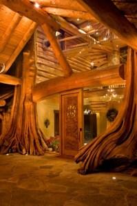 Using nature - http://www.cowboysindians.com/Blog/December-2012/Home-For-The-Holidays-A-Log-Cabin-For-Christmas/