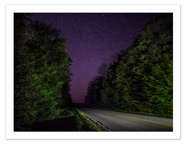 "Bill Schwab – ""Van Rd. Stars – Emmet County, Michigan  2018"""