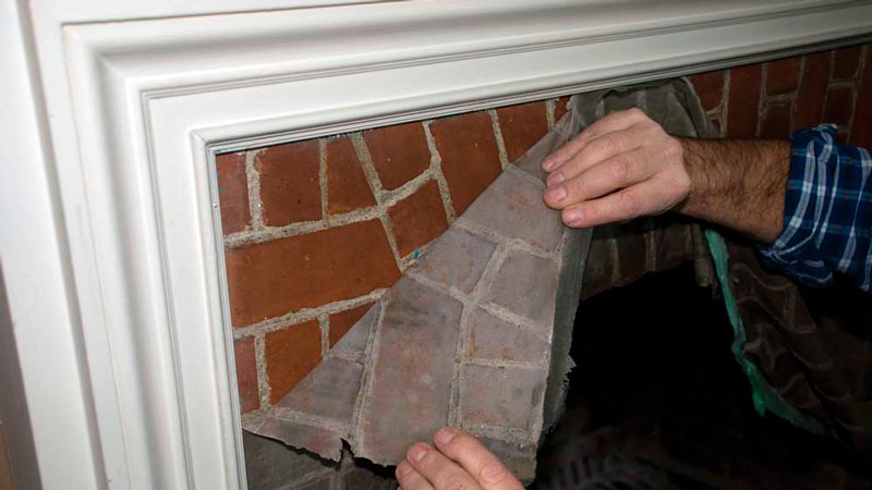 Paint N Peel Fireplace Cleaner - Peel it Off and See the Results