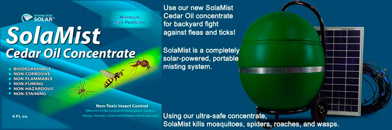 Solar Powered Mosquito Mister