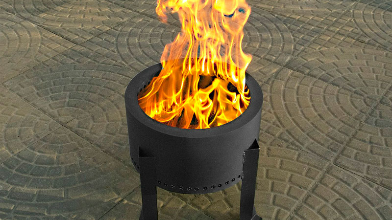 Pellet Fire Pit in outdoor