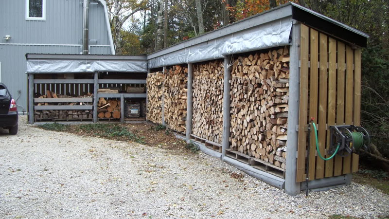 What is the best way to store firewood