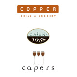Copper Grill, Cajuns's Wharf, Capers