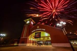 Dickey-Stephens Park North Little Rock Arkansas - fireworks