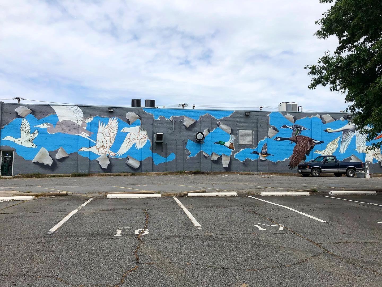 mural at Flyway Brewing