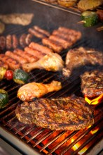 Steak and other Meat on a BBQ