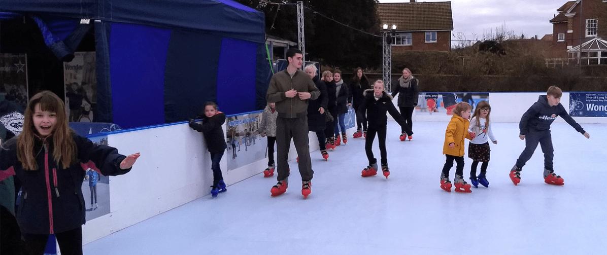 skating in North Lodge Park Cromer