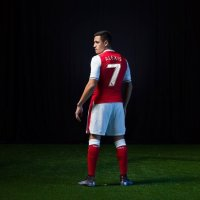 Alexis in Arsenal number 7 shirt