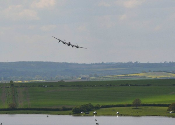 Dambuster flypast over Eyebrook Reservoir