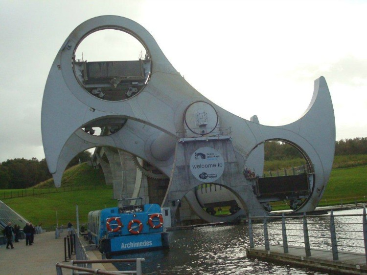 Falkirk Wheel - by Daphne Stanley