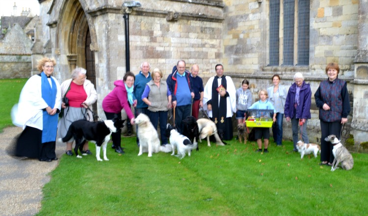A special Pet Service for owners and their pets took place at St John the Baptist Church in North Luffenham on Friday 4th October 2013 – photo by Pam Plant