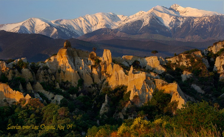 Canigou Sunrise in the Pyrenees - photo by Sue Churchill
